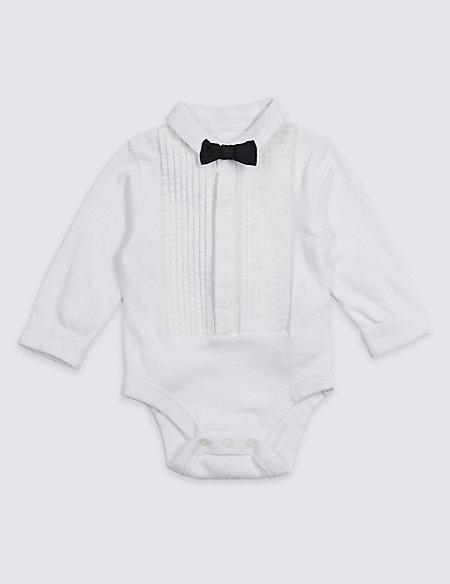 Mock Tuxedo Pure Cotton Bodysuit