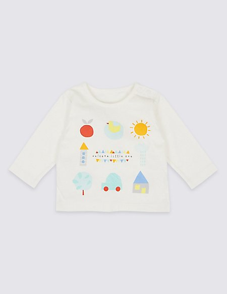 Welcome Little One Pure Cotton Top