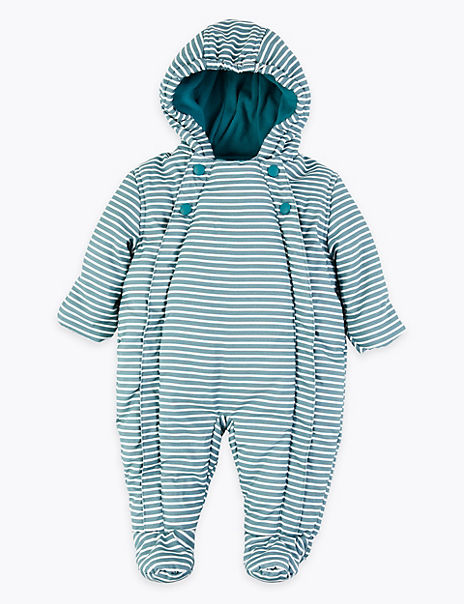 Striped Snowsuit
