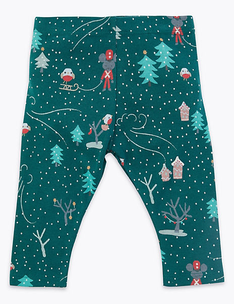 Winter Scene Printed Leggings