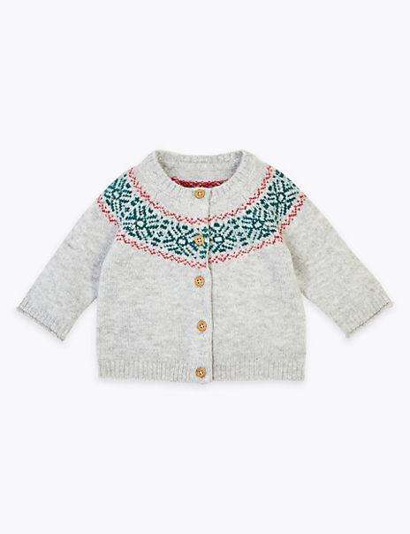 Knitted Fair Isle Cardigan