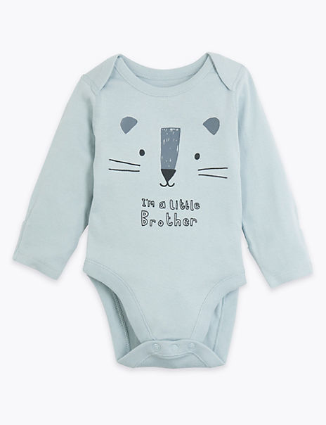 Pure Cotton Little Brother Bodysuit