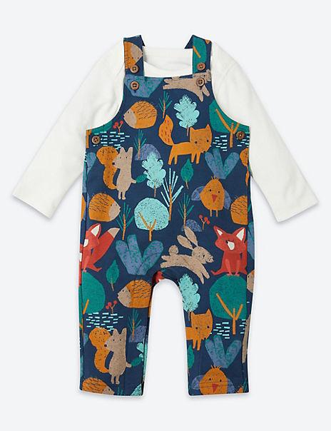 2 Piece Cotton Woodland Print Outfit