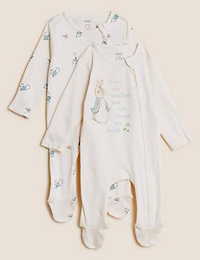 عبوة من 2 طقم للنوم من القطن الصافي بتصميم Peter Rabbit™ (من 0 - 3 سنوات)