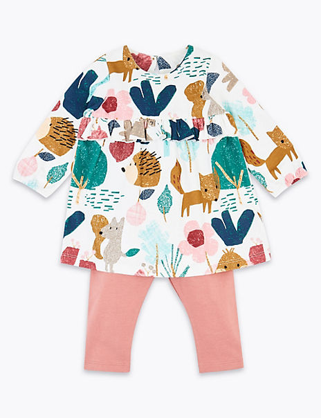 Two Piece Organic Cotton Woodland Outfit