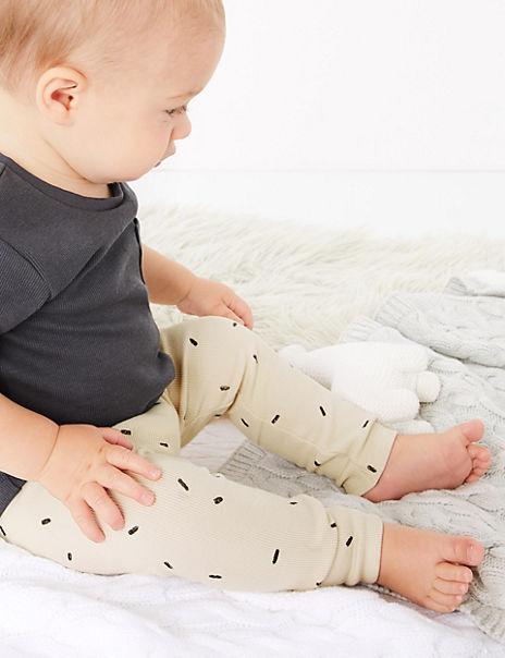 Organic Cotton Dash Print Leggings