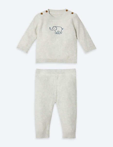 2 Piece Cotton Elephant Outfit