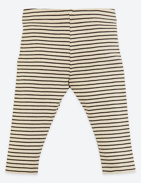 Organic Cotton Striped Leggings