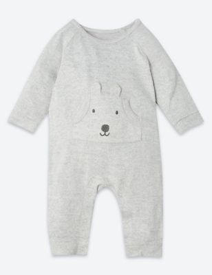 Fleece Embroidered Puppy All In One by Marks & Spencer