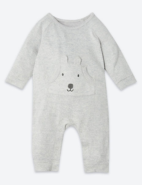 Fleece Embroidered Puppy All In One