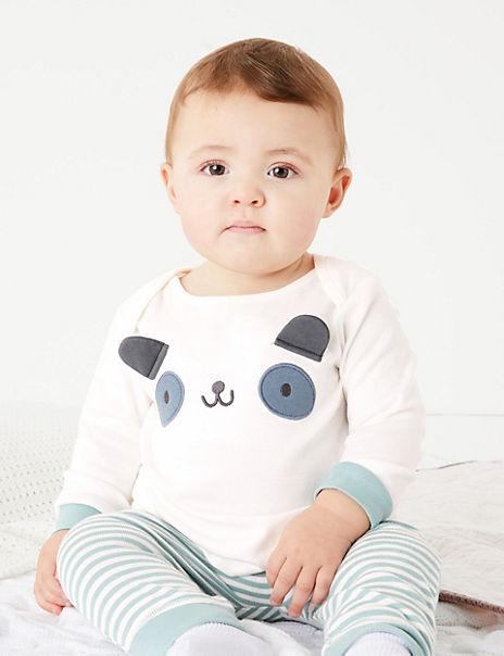 Two Piece Cotton Panda Outfit