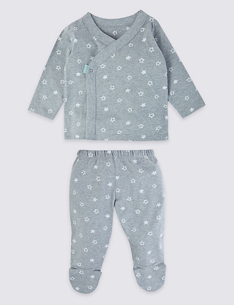Two Piece Jersey Star Print Outfit