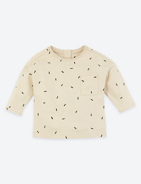 Organic Pure Cotton Dash Print Top