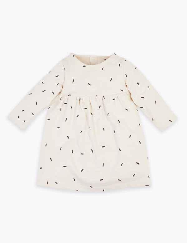 4e8fe439bc2e Organic Cotton Dash Print Jersey Dress