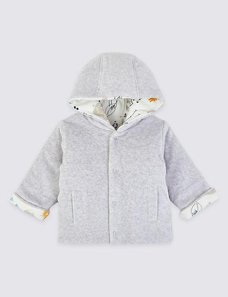 Fleece Reversible Animal Print Jacket