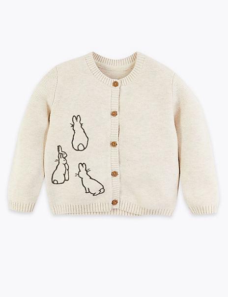 Cotton Peter Rabbit™ Cardigan (7lbs-36 Mths)