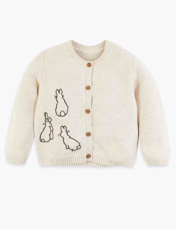 Cotton Peter Rabbit™ Cardigan (7lbs 36 Mths) | M&S