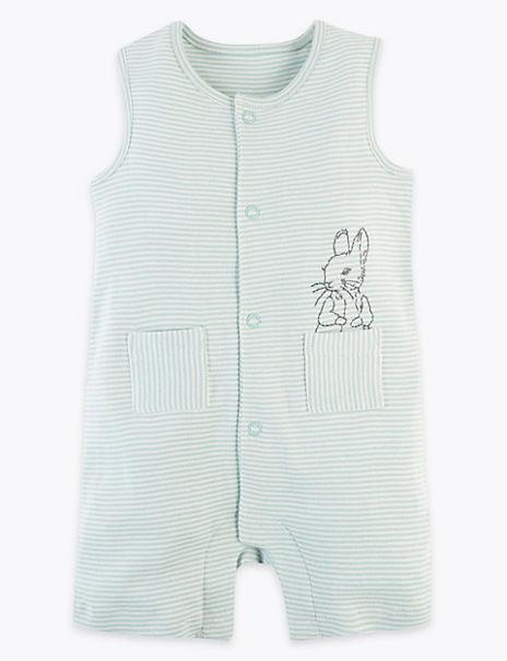 Pure Cotton Peter Rabbit™ Romper (7lbs-3 Yrs)