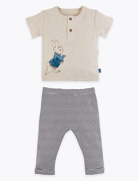 2 Piece Pure Cotton Peter Rabbit™ Outfit (0-3 Yrs)