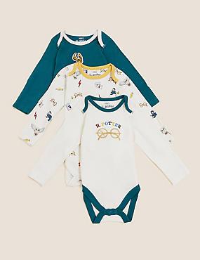 Harry Potter™ 3pk Pure Cotton Bodysuits (0-3 Yrs)