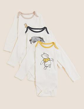 3pk Pure Cotton Winnie the Pooh™ Bodysuits (0-3 Yrs)