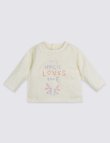 My Uncle Loves Me Pure Cotton Spotted Top