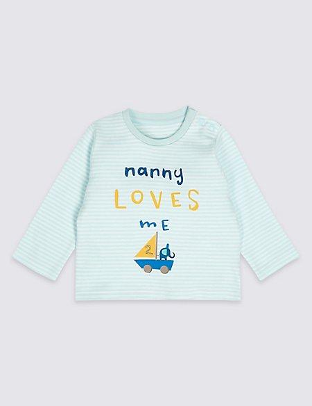 Nanny Loves Me Pure Cotton Striped Top