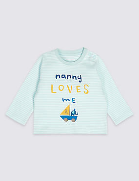Nanny Loves Me Pure Cotton Striped Top