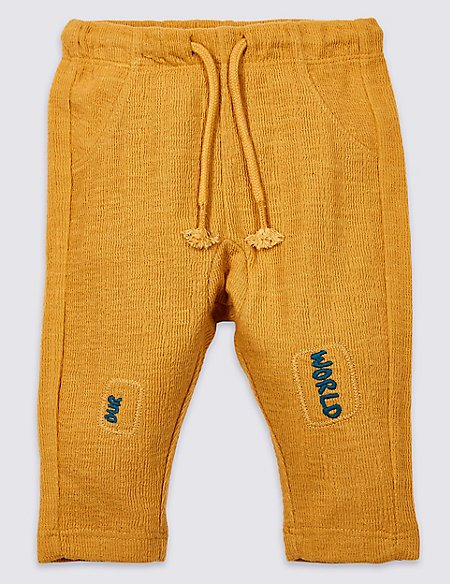 Cotton Rich Knee Patch Joggers