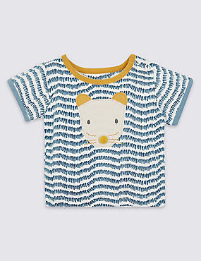 Pure Cotton Zig-Zag Animal T-Shirt