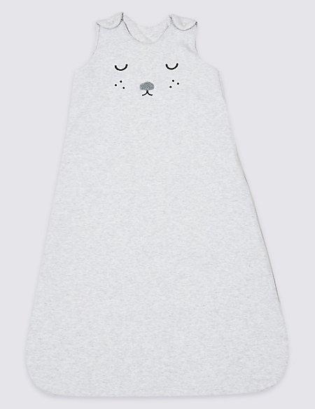 Pure Cotton 2.4 Tog Face Sleeping Bag