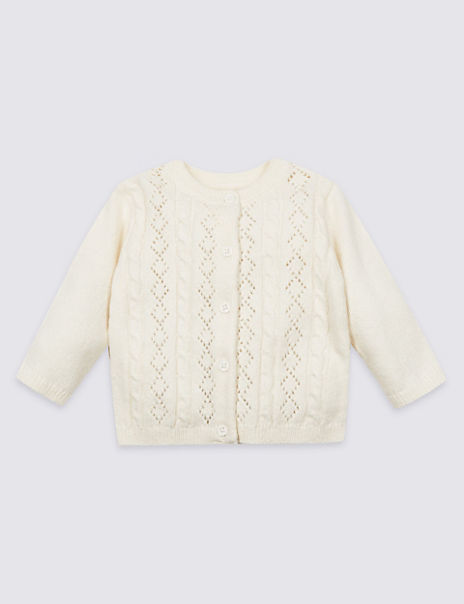 Cotton Rich Pointelle Cardigan