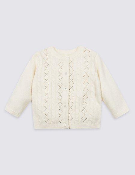 Cotton Rich Pointelle Cardigan