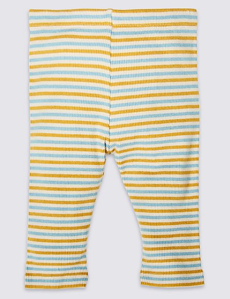 Pure Cotton Striped Leggings