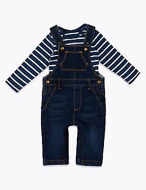 206a97c004811 Ensemble 2pièces avec salopette en jean ...