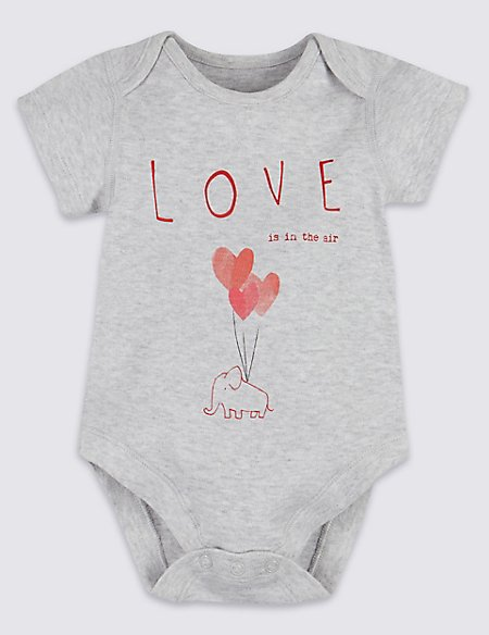 Pure Cotton Love Is In The Air Bodysuit