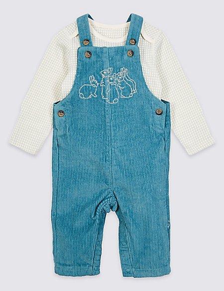 Peter Rabbit™ 2 Piece Dungrees & Bodysuit Outfit