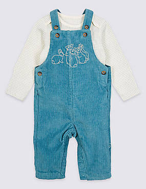 Peter Rabbit™ 2 Piece Dungarees & Bodysuit Outfit
