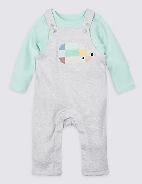 2 Piece Hedgehog Bodysuit & Dungarees