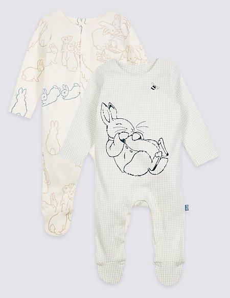 Peter Rabbit™ 2 Pack Pure Cotton Sleepsuits