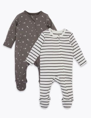 2 pack sleepsuits