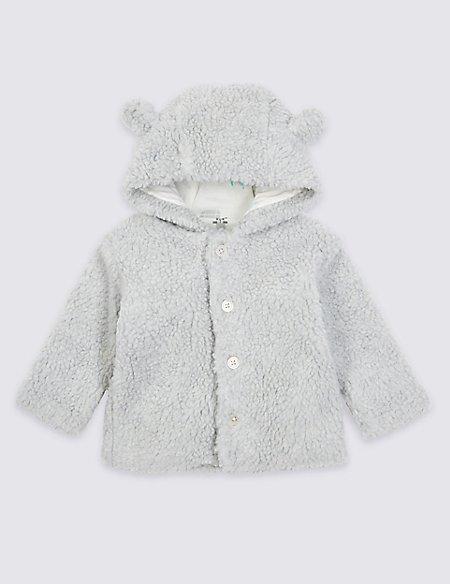 Cotton Rich Fleece Hooded Jacket