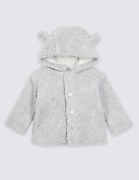Cotton Rich Fleece Hooded Jacket