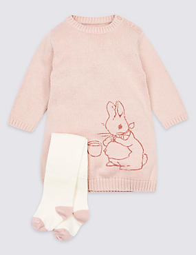 2 Piece Peter Rabbit™ Knitted Dress with Tights