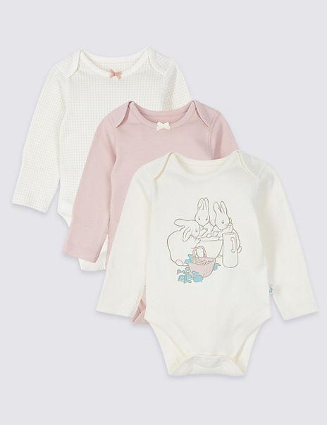 Peter Rabbit™ 3 Pack Pure Cotton Bodysuits
