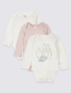 Peter Rabbit™ 3 Pack Pure Cotton Bodysuits