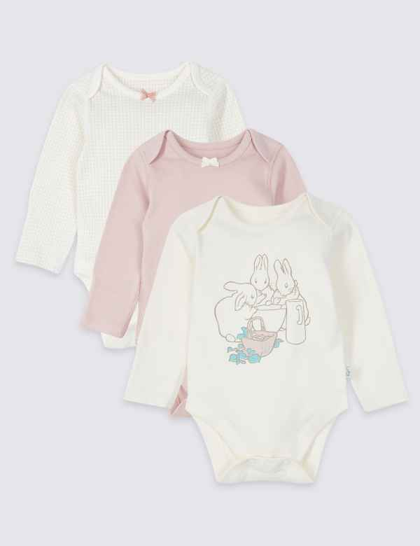 b38332830bb4 Peter Rabbit™ 3 Pack Pure Cotton Bodysuits