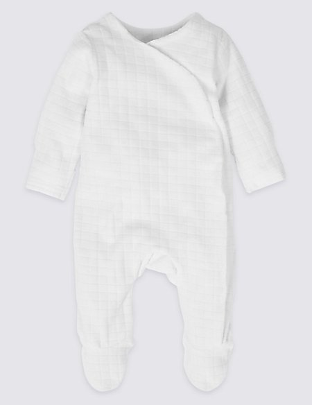 Cotton Rich Velour Sleepsuit