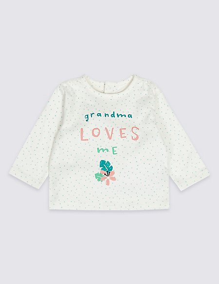 Grandma Loves Me Pure Cotton Top