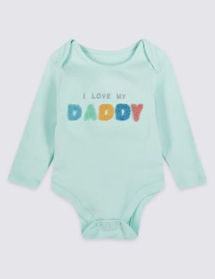 Pure Cotton I Love My Daddy Bodysuit by Marks & Spencer